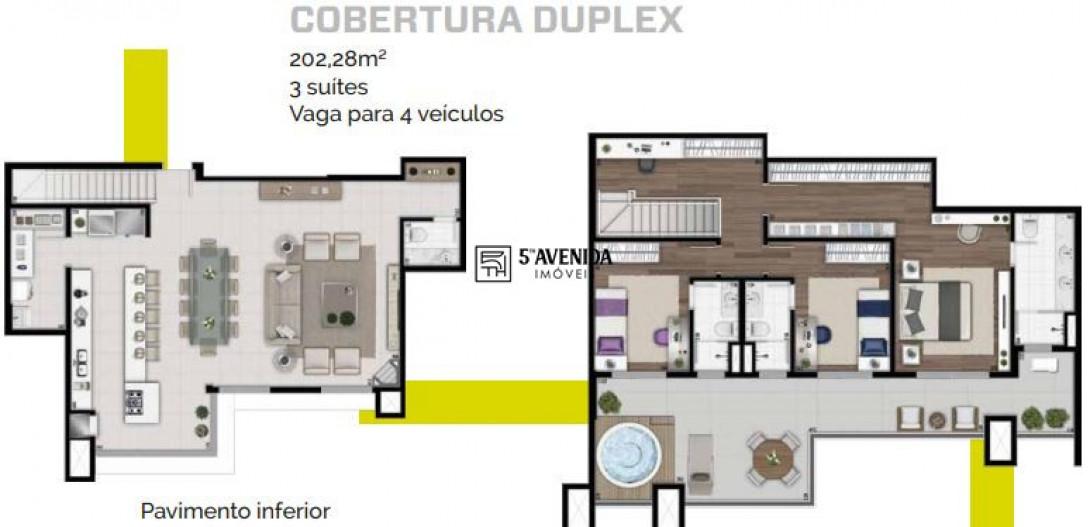 Foto 53 - COBERTURA em CURITIBA - PR, no bairro Alto da Glória - Referência LE00303
